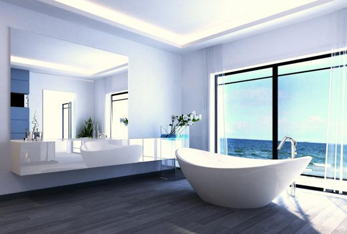 Am nager une salle de bains avec baignoire for Amenager une petite salle de bain avec baignoire et douche
