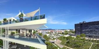 Montpellier : des maisons sur un immeuble