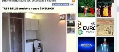 Leboncoin.fr au coeur d'un Buzz immobilier : une studette avec WC dans la cuisine