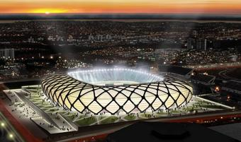 Mondial 2014 : construction du stade Arena Amazonia