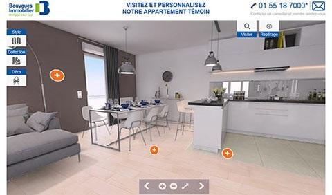 Bouygues propose aux futurs acheteurs un outil de personnalisation en 3D des logements