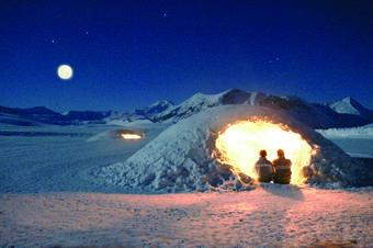 Une nuit dans un igloo