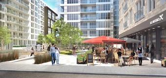 Montréal : un square au coeur d'un projet immobilier