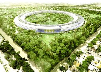 Le futur immeuble de bureaux d'Apple « campus 2 » dépassera les 2 milliards de surcoût