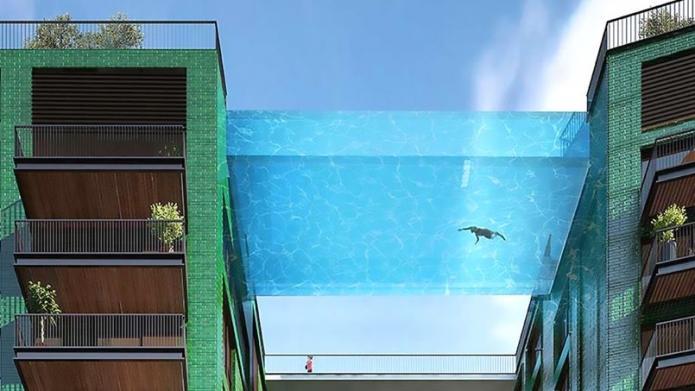La piscine suspendue d'Embassy Gardens