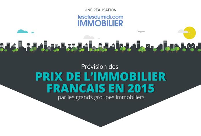 Infographie Immobilier 2015 : les prévisions de prix immobilier et volume de vente des grands groupes immobiliers