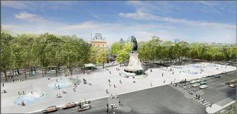 Réaménagement de la place de la République à Paris