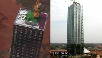 Un immeuble construit en 15 jours en Chine