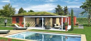 La maison positive ABCD+ de Lafarge/Cécile Robin en construction
