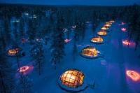 Dormir dans un igloo où la température est au-dessous de zéro