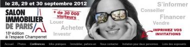 Salon immobilier de Paris dès aujourd'hui