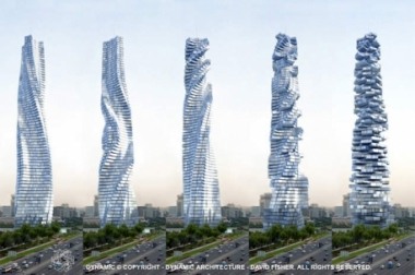 Un gratte-ciel pivotant signé David Fisher prévu pour Belgrade