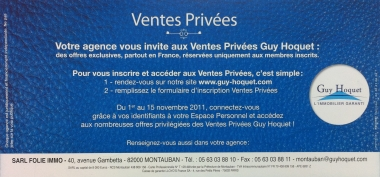Ventes privées chez Guy Hoquet Immobilier